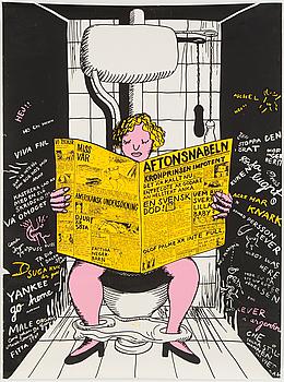 A silk screen poster, 1969.