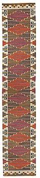"""198. Märta Måås-Fjetterström, A RUNNER, """"Bruna heden"""", flat weave, ca 525,5 x 102,5 cm, signed AB MMF."""