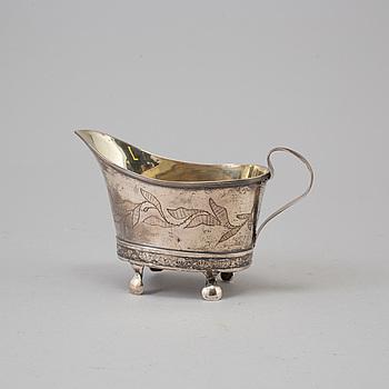 """GRÄDDKANNA, silver, stämplad """"HIH"""", Linköping, 1814."""