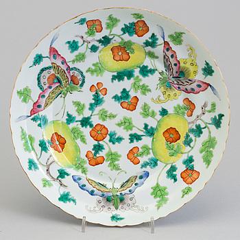 FAT, porslin, Kina, Qingdynastin, 1800-talets slut.