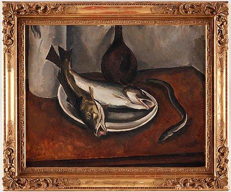 Otte sköld, nature morte with fish.