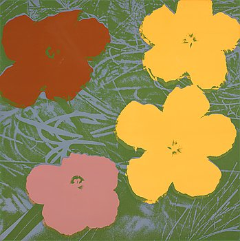 "203. Andy Warhol, ""Flowers""."