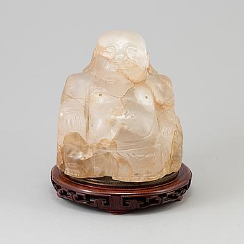 BUDDHA, quartz. Kina, 1900-tal, 10,3 kg.