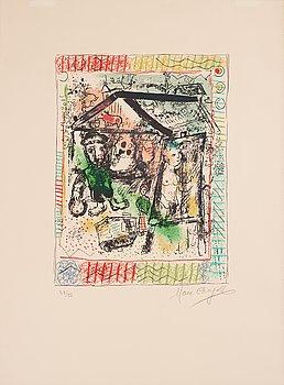 386. MARC CHAGALL, färglitografi, 1969, signerad med blyerts och numrerad 28/50.