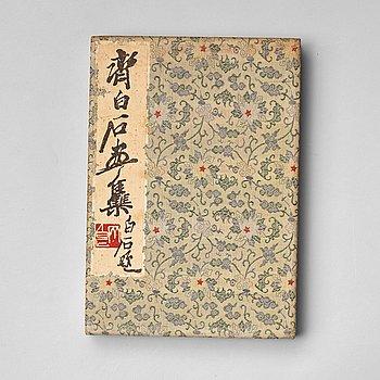 "BOK med TRÄSNITT, ""Qi Baishi hua ji"". Beijing 1952."