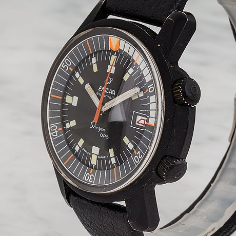 Enicar, sherpa 600, ops, wristwatch, 40 (43) mm.