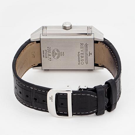 Jaeger-le coultre, reverso squadra, wristwatch, 35 x 40.5 (50.5) mm,