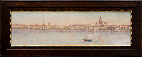 Watercolour, signed and dated 1913