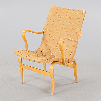 "An arm chair by Bruno Mathsson, model ""Eva"", for Firma Karl Mathsson, second quarter of the 20th century."