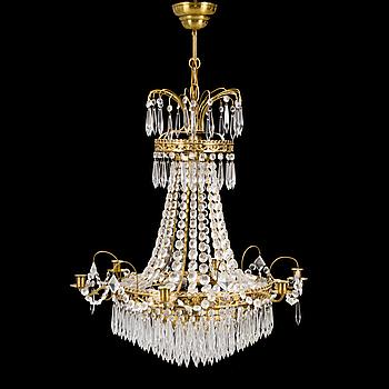 LJUSKRONA, Empirestil, 1900-talets mitt. Höjd ca 60 cm.