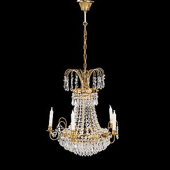 LJUSKRONA, Empirestil, 1980-tal. Höjd ca 50 cm.