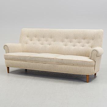 """CARL MALMSTEN, soffa, """"Hemmakväll"""", 1900-talets andra hälft."""