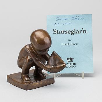 LISA LARSON, skulptur, brons, signerad och numrerad No 426.