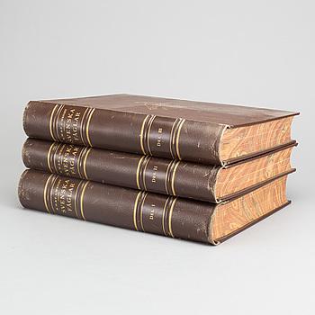 """BÖCKER 3 vol """"Svenska Fåglar efter naturenb och på sten ritade"""" M, W och F von Wright Stockholm 1914-29."""