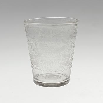 POKAL, glas. Sverige, 1700-tal.