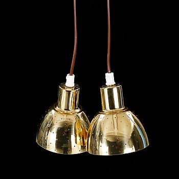 HANS AGNE JAKOBSSON, fönsterlampor, ett par, Markaryd, 1900-talets andra hälft, höjd 11 cm.