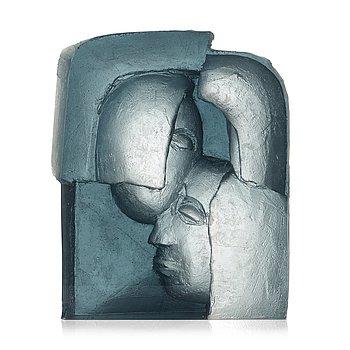 12. Ann Wolff, a cast sculpture from the 'Head series', Transjö, Sweden, 1990's.