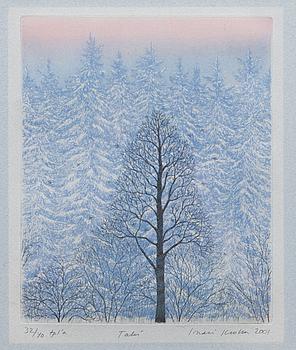 INARI KROHN, litografi, signerad och daterad 2001, numrerad 32/40.