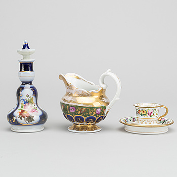 Three porcelain parts Russian 19th century/app. 1900.