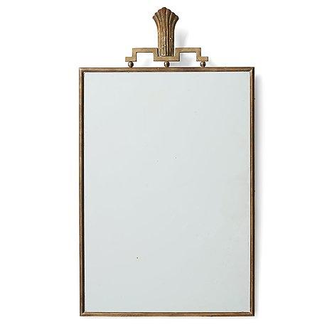 Lars holmström, a brass framed swedish grace mirror, arvika 1920-30's.