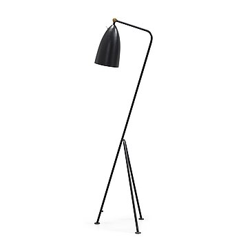 3A. GRETA MAGNUSSON GROSSMAN, a 'G-33' (Grasshopper) black lacquered floor lamp, Bergbom's, Sweden 1950's.