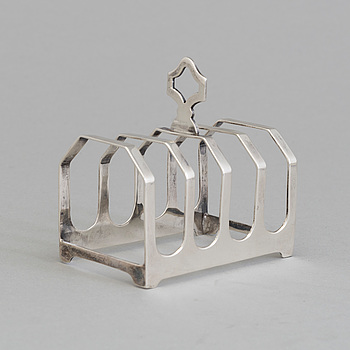a silver toastrack, Sheffield England 1936.