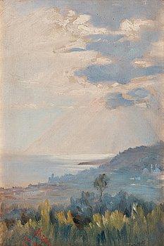 256. Ingeborg Westfelt-Eggertz, View over Nice on the French Riviera.