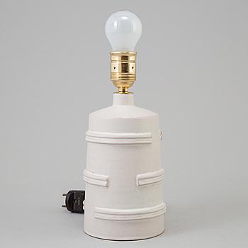 JERK WERKMÄSTER, bordslampa, lergods, Nittsjö, 1930-tal.