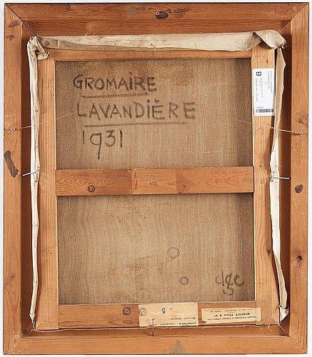 """Marcel gromaire, """"lavandière""""."""