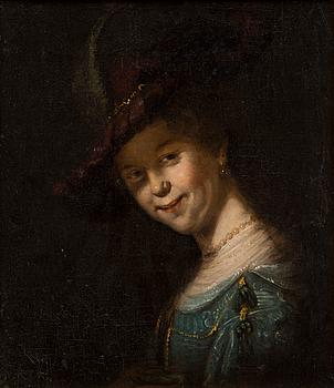 291. SASKIA VAN UYLENBURGH AS A YOUNG GIRL. AFTER REMBRANDT.
