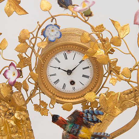 A mantle clock, french, 19th century.