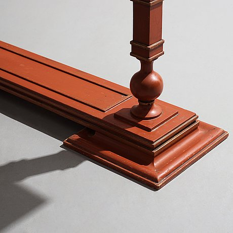 Axel einar hjorth, an 'Åbo' console table carved and lacquered in chinese red , nordiska kompaniet, sweden 1930.
