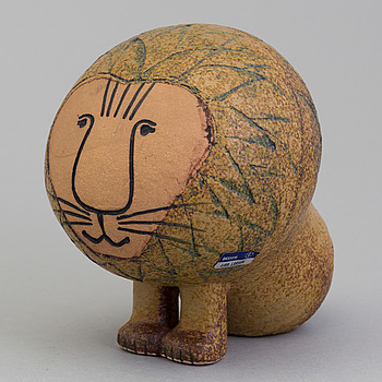 """LISA LARSON, figurin, stengods, """"Lejon"""" ur serien """"Afrika"""", Gustavsberg."""