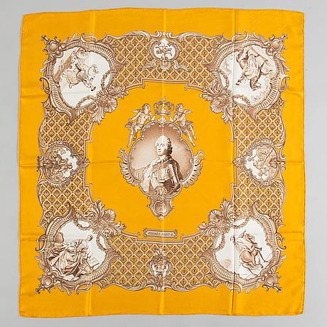 "Scarf, hermès, ""louis xv"", issued 1971."