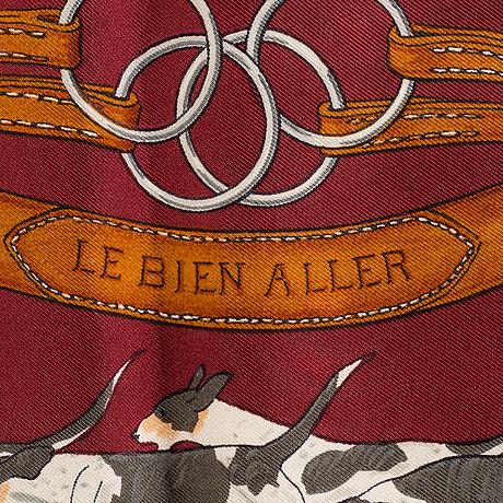 """Scarf, hermès, """"le bien aller"""", issued 1979."""