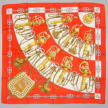 "Scarf, Hermès, ""Cliquetis"", issued 1972."