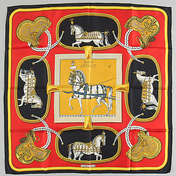 "SCARF, Hermès, ""Grand Apparat"", issued 1962."