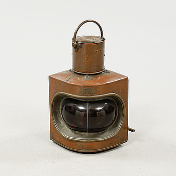 "LANTERNA, ""No 10"", Millers Signal Lamps, London, tidigt 1900-tal."
