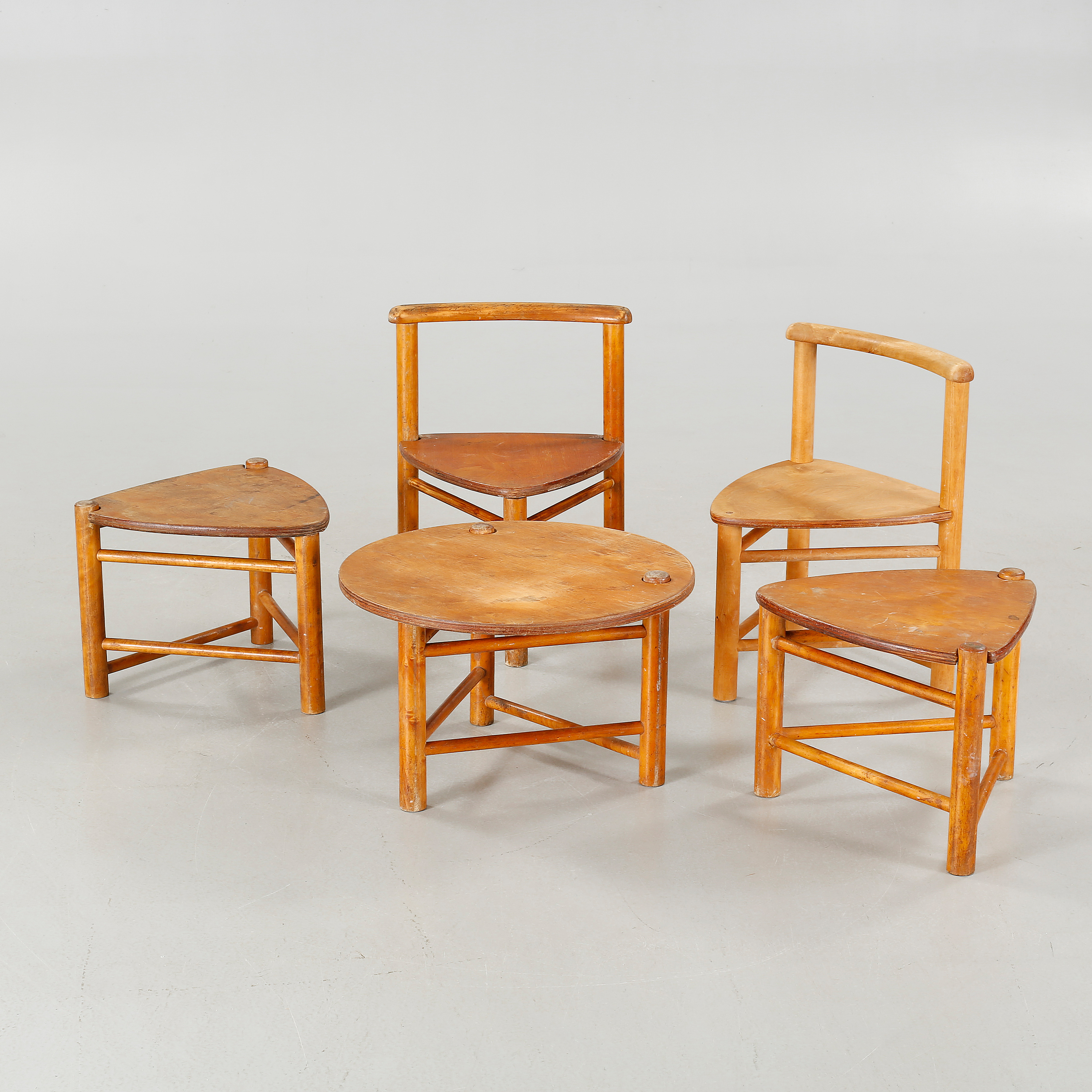 Five Children Furnitures, Designed By Elis Borg For Firm