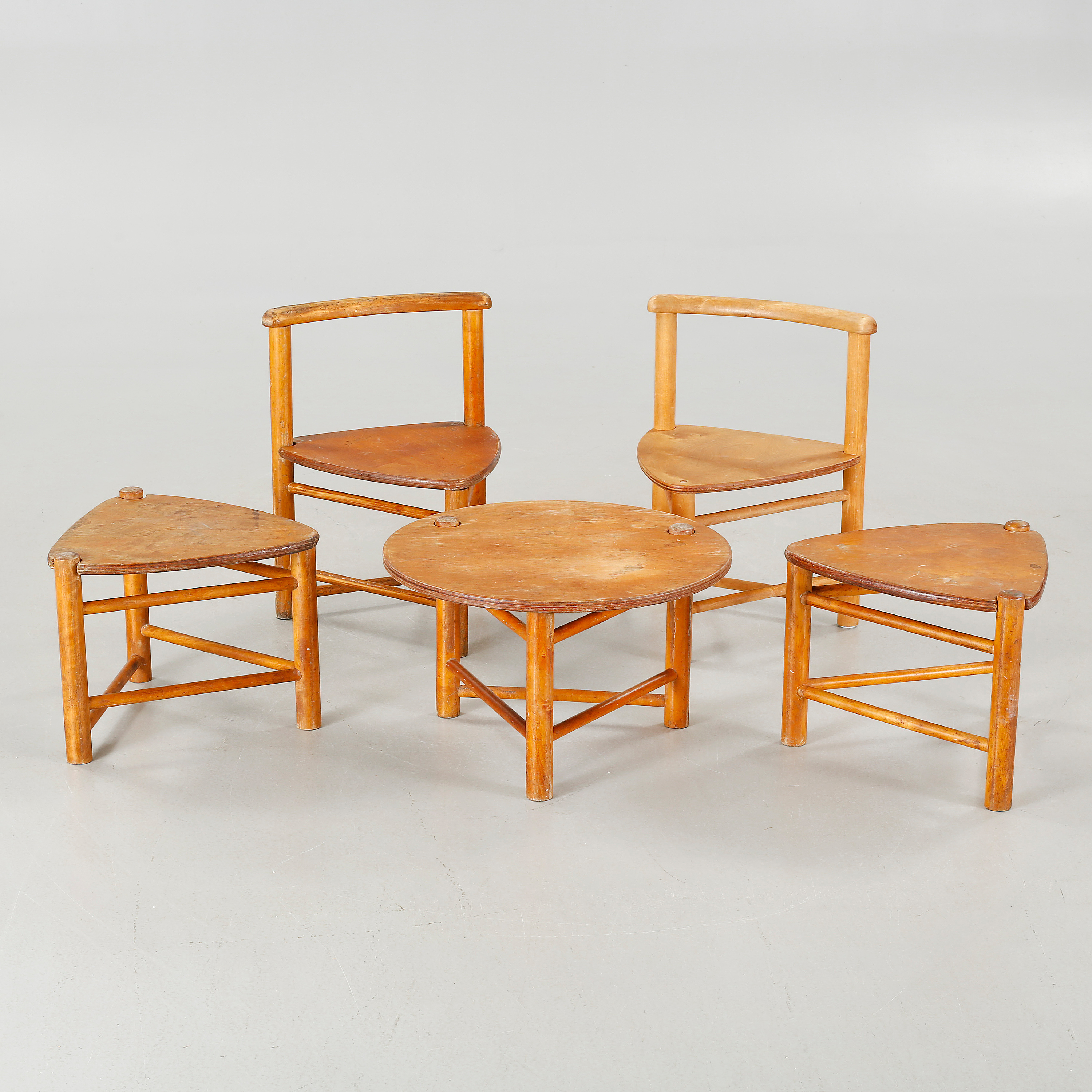Funitures: Five Children Furnitures, Designed By Elis Borg For Firm