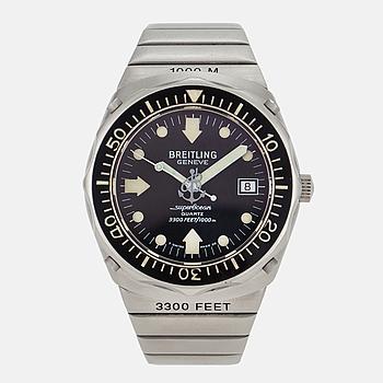 BREITLING, SuperOcean Deep Sea, (3300Feet/1000m), armbandsur, 39 mm.