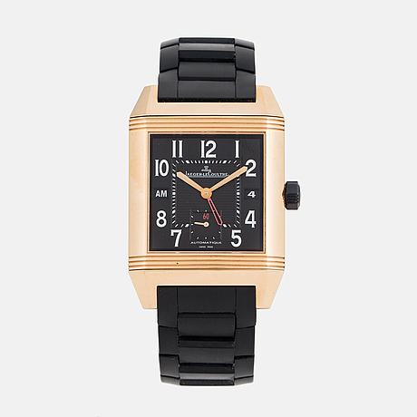 Jaeger-lecoultre, reverso, squadra hometime black, 1000 hours, wristwatch 35 x 40,5 (50,5) mm.