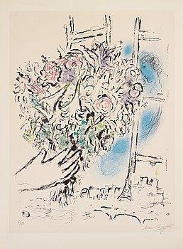 387. MARC CHAGALL, färglitografi, 1964, signerad med blyerts och numrerad 6/50.