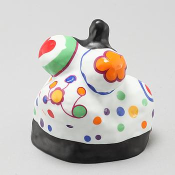 "NIKI DE SAINT PHALLE, skulptur, porslin, ""Nana"", Rosenthal Studio Linie, Tyskland."