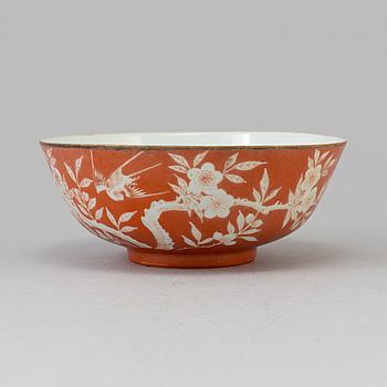 SKÅL, porslin. Kina, Qing dynastin, sent 1800-tal.