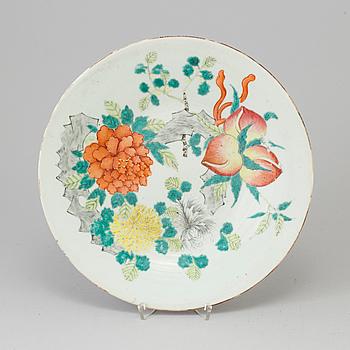 FAT, porslin. Kina, Qingdynastin, 1800-tal.