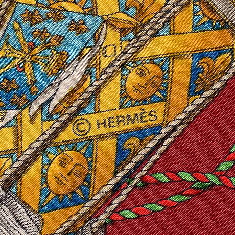 """Scarf, """"les tambours"""", hermès ."""