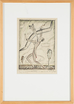 EINAR FORSETH, Blyerts och akvarell, signerad och daterad -15.