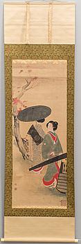 RULLMÅLNING, tusch och färg Japan, 1900-tal,