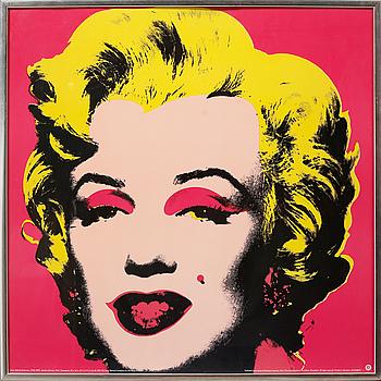 "ANDY WARHOL, efter, offsetlitografi / poster, ""Marilyn Monroe""."